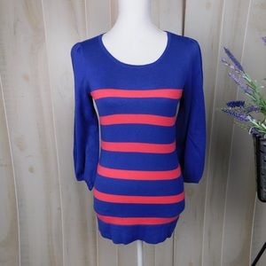 Lilly Pulitzer Blue & Pink Striped Sweater